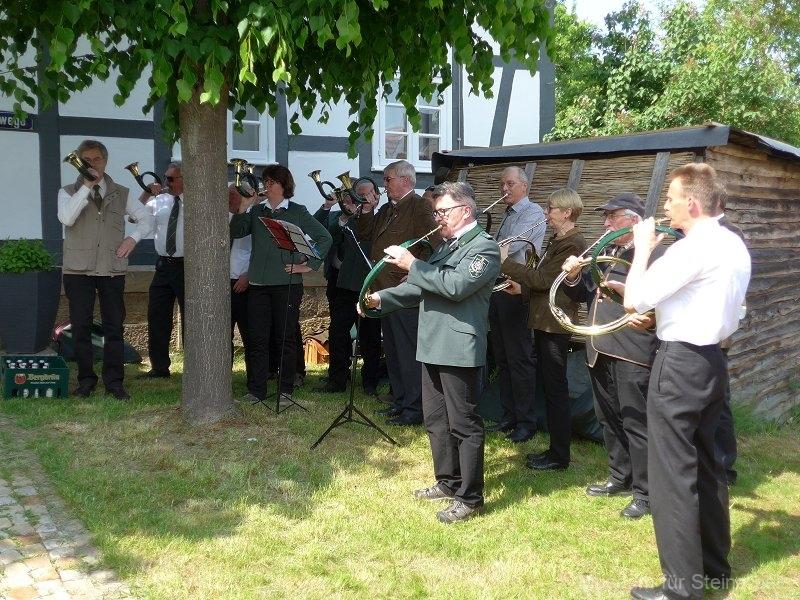 Das Bläsercorps der Jägerschaft Göttingen spielte zahlreiche Stücke aus seinem Repertoire