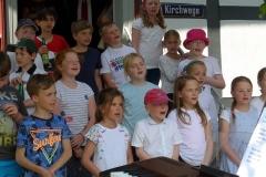 Der Schulchor der Heinrich Christian Burckhardtausstellung eröffnete das Museumsjahr